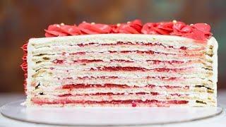 НЕЖНЕЙШИЕ КОРЖИ для торта и НАЧИНКА ТОРТА превзошли ожидания. Простой рецепт торта для новичков