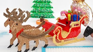 How to make Santa Claus Buggy with Reindeer 3D