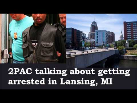 2Pac Shakur talking about Lansing, MI arrest in 1993 - Tupac