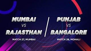Cricbuzz LIVE: Mumbai v Rajasthan, Punjab v Bangalore