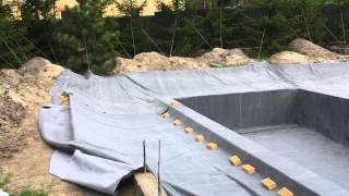 Плавательный пруд сейчас в работе(Плавательная зона: 15х5 метра 2 донных забора Механика: барабанный фильтр Sakura Ecodrum 20 УФ: TMC ProPond UV 110 (проверенны..., 2015-05-22T19:10:17.000Z)