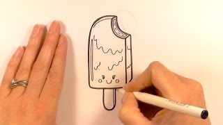 How to Draw a Cartoon Ice Cream On a Stick
