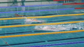 Christian Renshoff 100m schoolslag NJK in Eindhoven