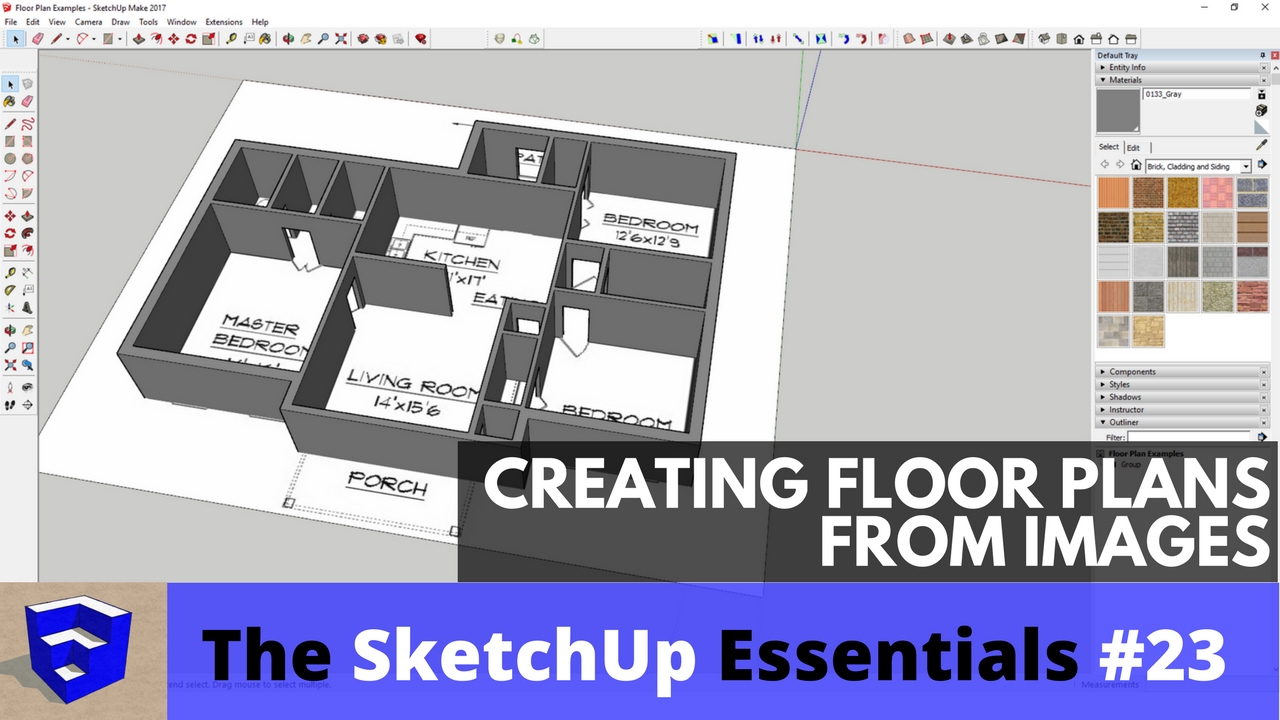 Creating floor plans from images in sketchup the for Floor plans in sketchup