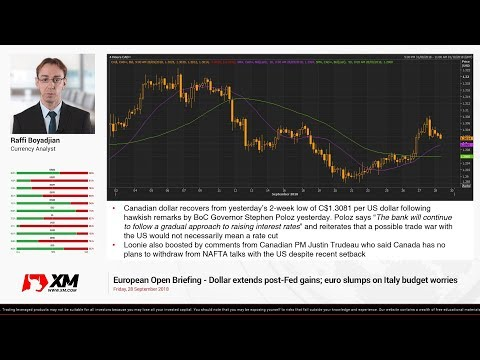 Forex News: 28/09/2018 - Dollar extends post-Fed gains; euro slumps on Italy budget worries