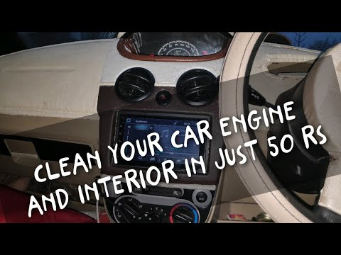 How to clean Car interior and Engine at home Without any Machine