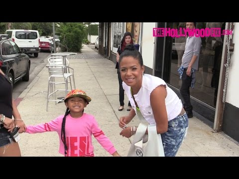 Christina Milian & Daughter Violet Arrive To Her We Are Pop Culture 7.18.15 - TheHollywoodFix.com