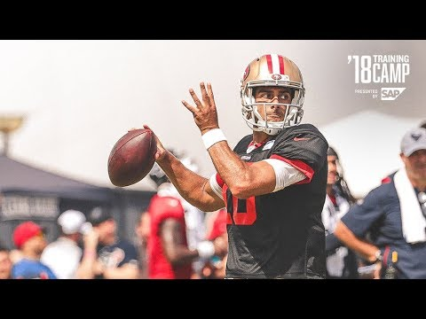 Jimmy Garoppolo Reflects on Two Days of Practice against Texans