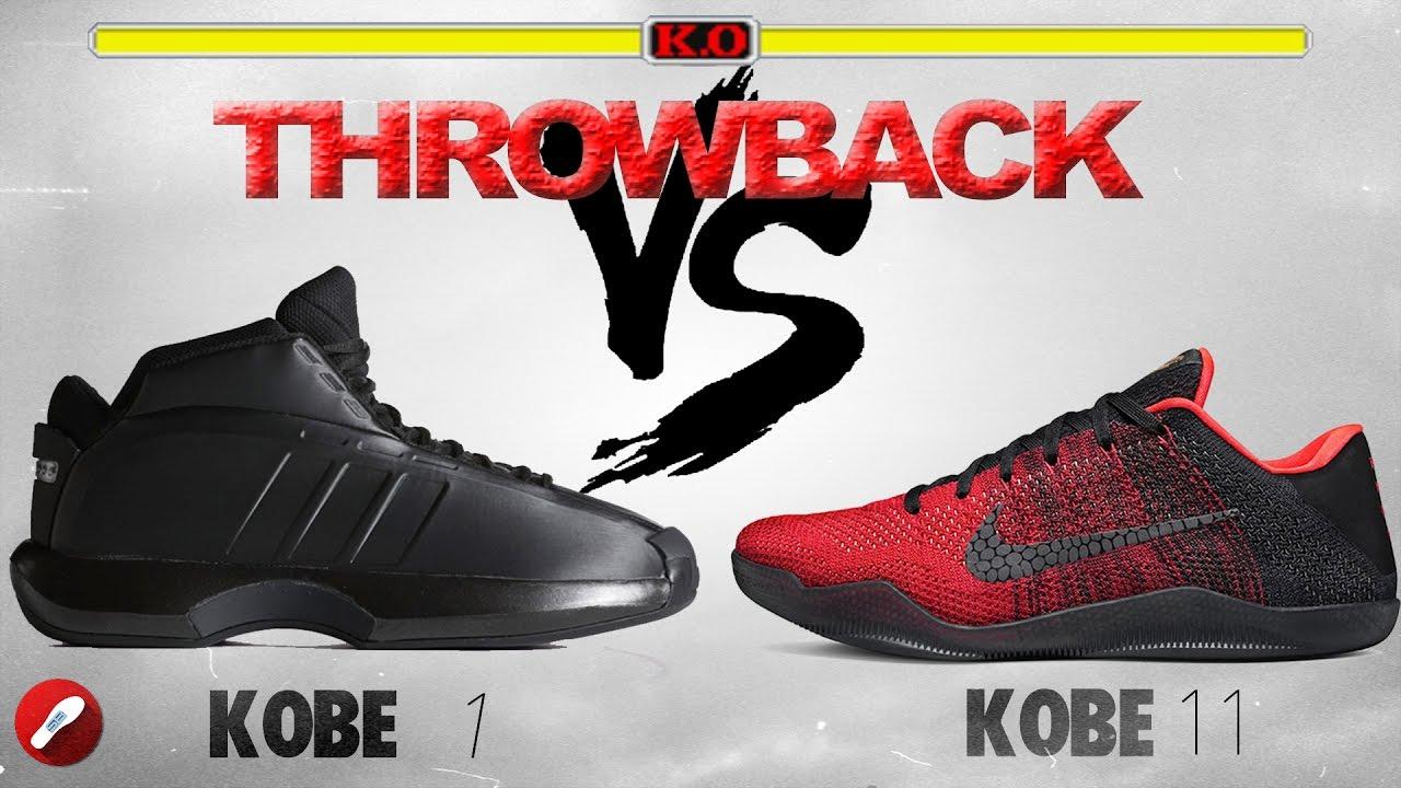 quality design 2a260 f9e04 Throwback Series! Adidas Kobe Crazy 1 vs Nike Kobe 11! - YouTube