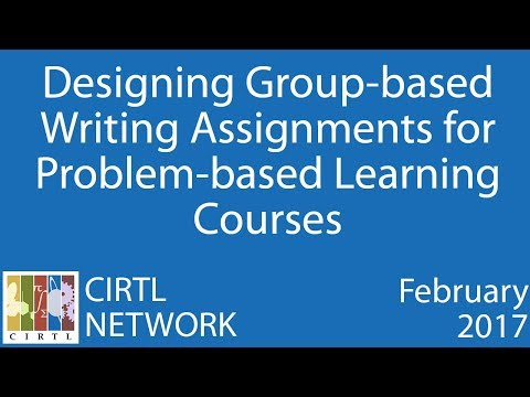 Designing Group based Writing Assignments for Problem based Learning Courses