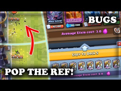Popping the Ref | Update Bugs - Samsung Glitch | Touchdown Gameplay | Clash Royale