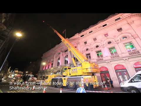 Shutting Down Piccadilly Circus: The Crane-In | Body Worlds London