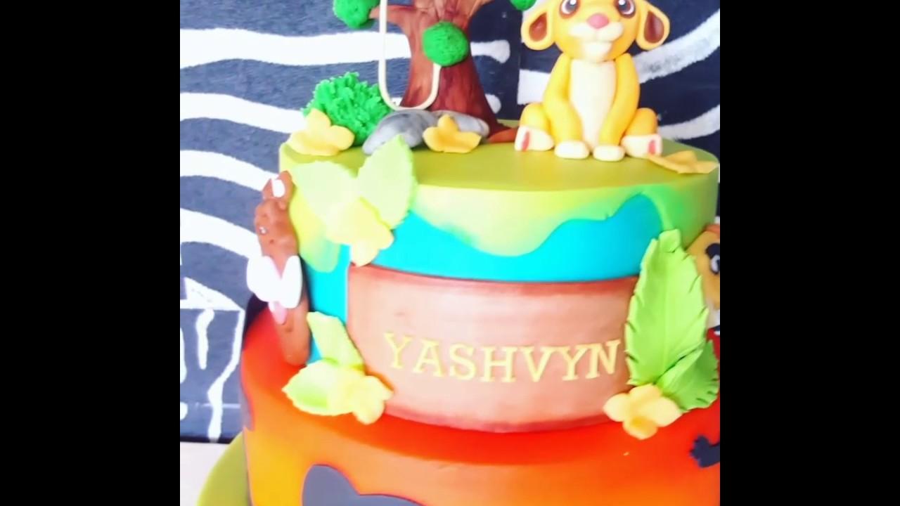 Lion guard bday cake YouTube