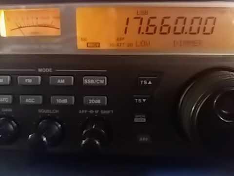 17660 kHz: Radio Saudi International, Riyadh SAUDI ARABIA