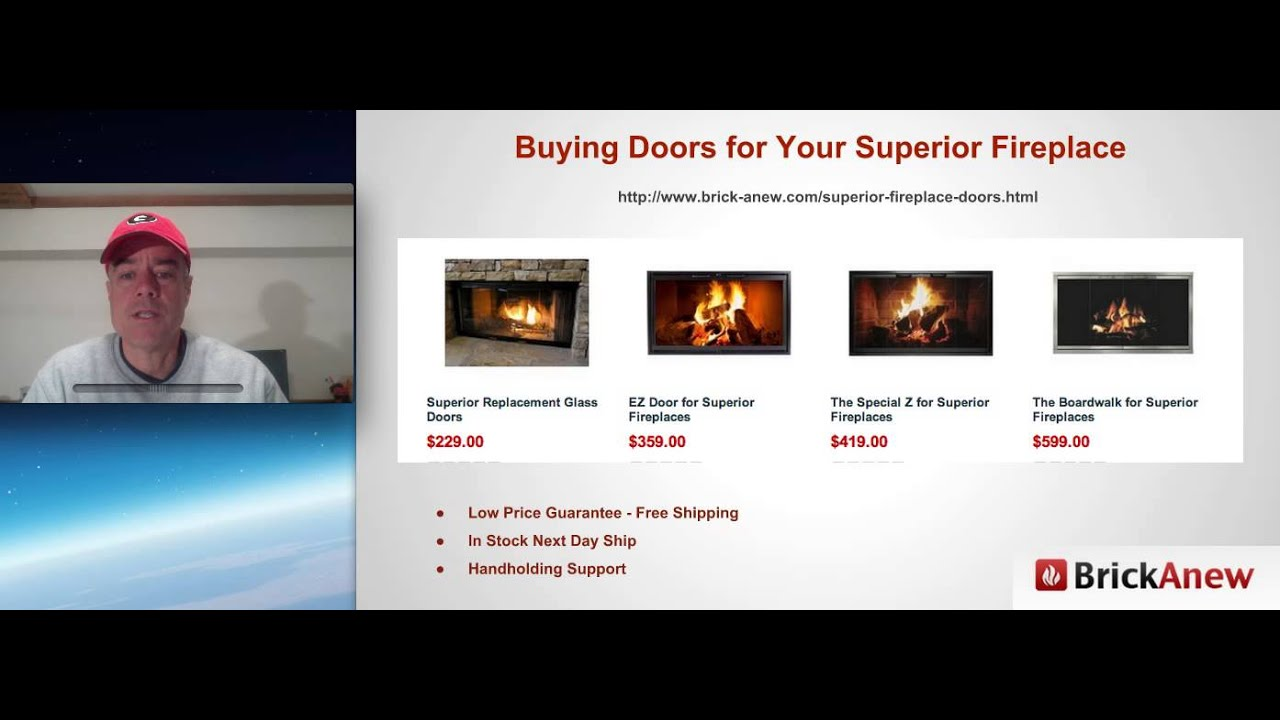 Superior Fireplace Door Video Youtube
