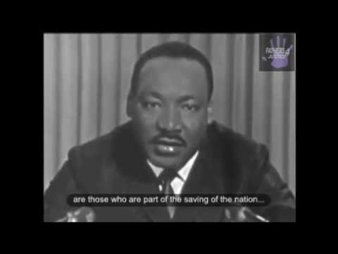 Martin Luther King Jr  Speech Civil Disobedience and obeying Just vs  Unjust laws Closed Captioned