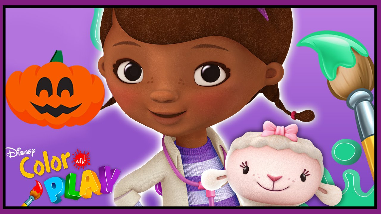 Doc McStuffins Color and Play  Docs Check Up Room FallHalloween