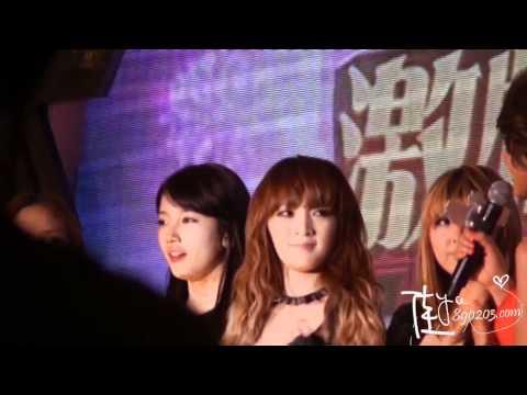 111108 miss A Zhejiang TV Viewers Festival - interview (jiayo890203 exclusive video) HD
