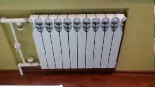 Биметаллический радиатор TIANRUN(данное боковое подключение рекомендовано только для ЧУГУННЫХ БАТАРЕЙ, у которых диаметр в секциях большой,..., 2014-01-06T13:01:41.000Z)