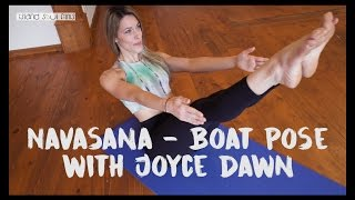 Navasana - Boat Pose with Joyce Dawn Yoga Teacher