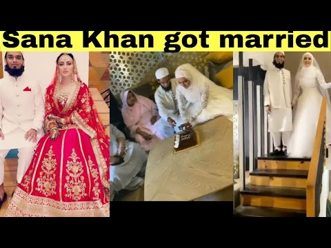 Download Former bigg boss contestant and actress Sana Khan got married after quitting Bollywood