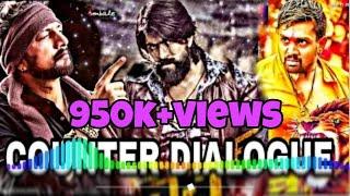 The villain yash vs dhruva sarja dialogue DJ song