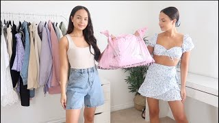 PRETTY LITTLE THING TRY ON HAUL - AYSE AND ZELIHA