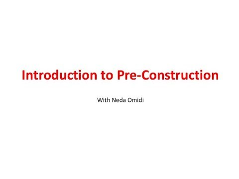 Introduction to Pre-Construction