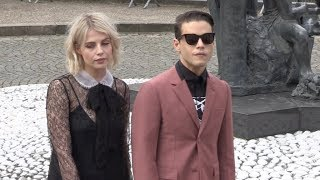 Rami Malek attending 2018 Miu Miu show in Paris streaming