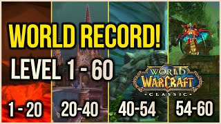 WoW Classic - Leטel 1- 60 World Record in 21Hr 16Mins | Power Leveling