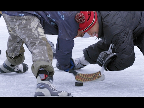 Mark McMorris vs. Craig McMorris in pond hockey | Good Times with Craig McMorris