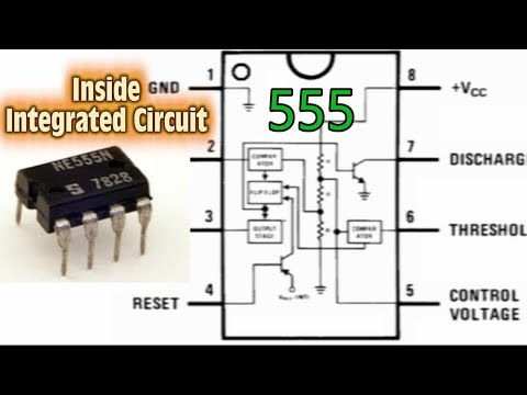 Inside Integrated Circuit 555 - Mirada Introspectiva al Circuito Integrado 555
