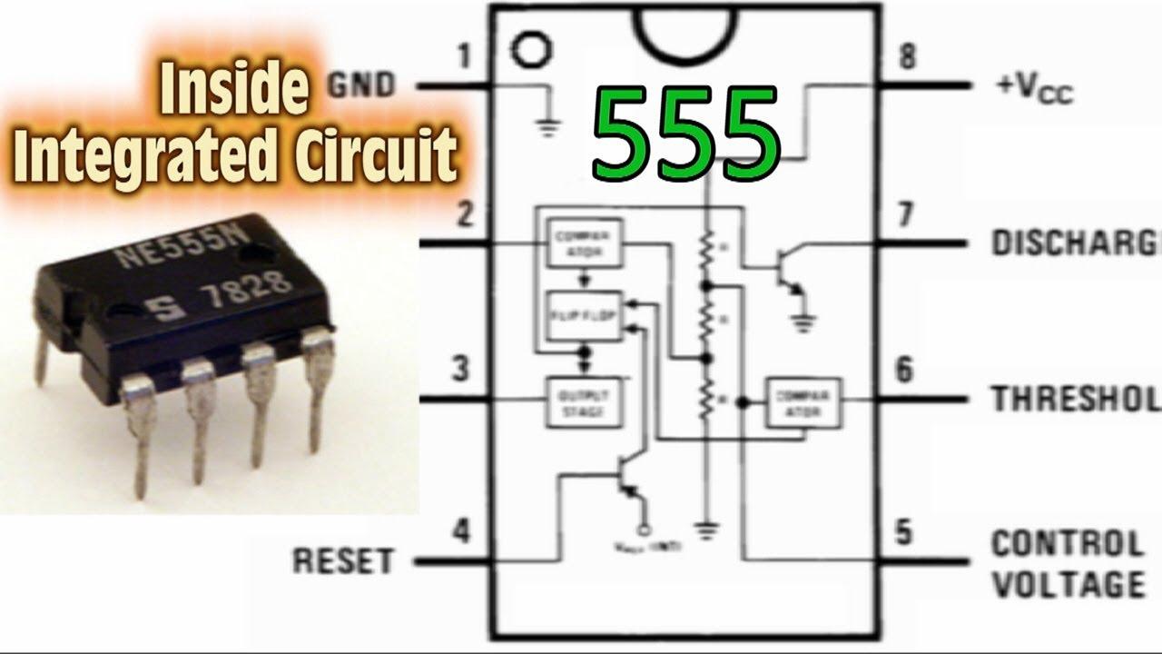 Circuito Integrado 555 : Inside integrated circuit mirada introspectiva al