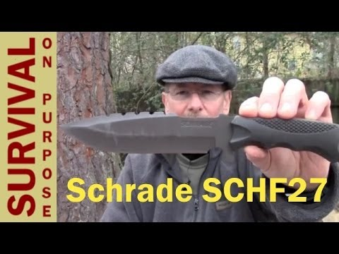 Schrade SCHF27 Survival Knife Review – First Time On YouTube!