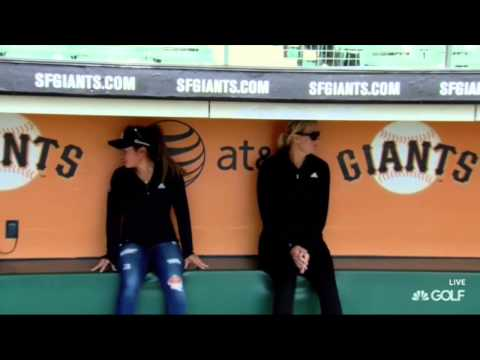 Nordqvist and Kang Visit the GIants at AT&T Park