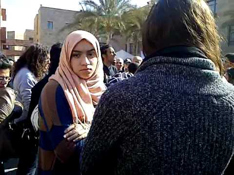 AUC students protest after their colleague was killed in portsaid's events