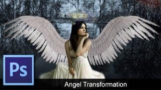 Adobe Photoshop CS6 - Angel Transformation [ Speed Art ]