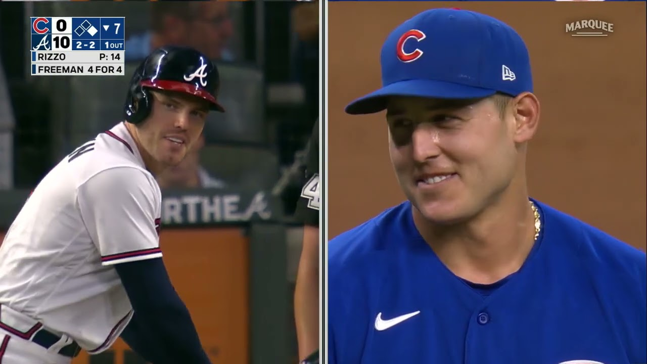 Freddie Freeman strikes out vs. Anthony Rizzo. 'He'll have that over ...
