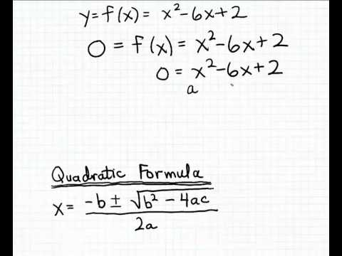 x intercept formula quadratic function  Finding the x-intercepts using the Quadratic Formula