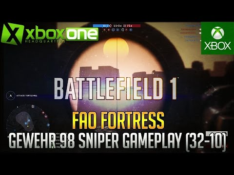 Battlefield 1 (BF1) Scout Sniper Gameplay - Xbox One Live Stream [32-10] HD 1080/60fps