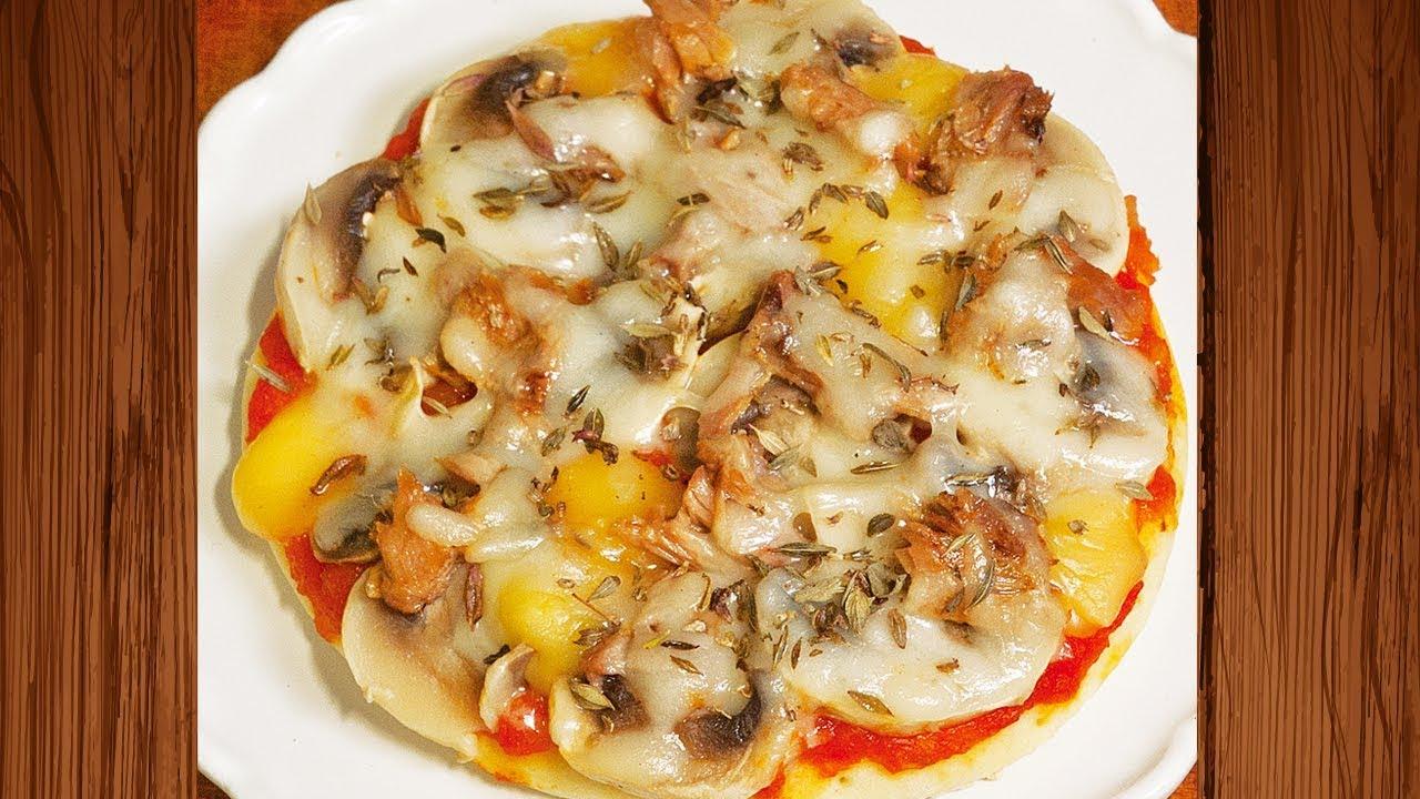 Mini Pizza aux Champignons et Thon - YouTube