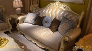 Видео обзор: Классическая мягкая мебель для гостиной Митчел D натуральная кожа