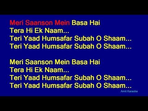 Meri Saanso Mein Basa Hai - Udit Narayan Hindi Full Karaoke with Lyrics