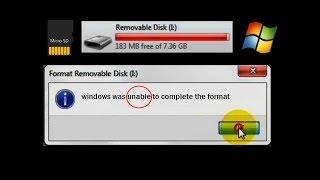 sd card not formatting  how to format memory card (windows was unable to complete the format)