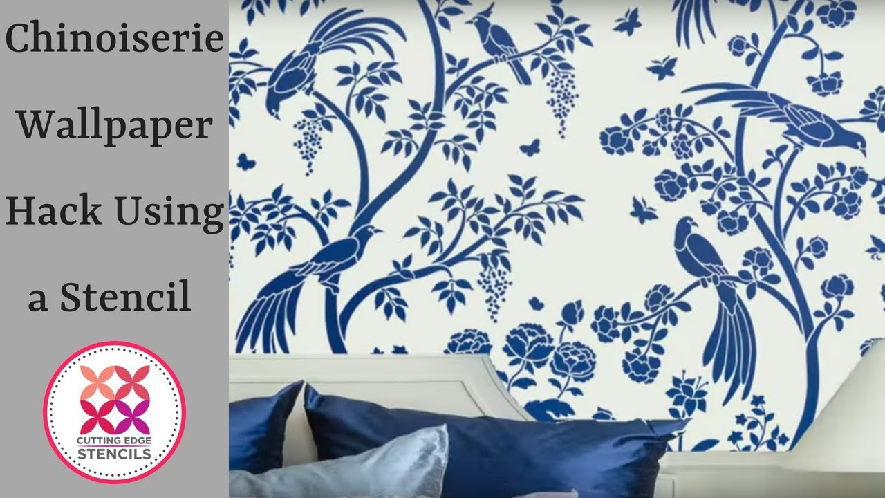 How To Get The Perfect Chinoiserie Wallpaper Look With Stencil By Cutting Edge Stencils