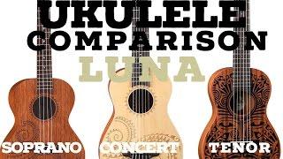 (2016) Ukulele Comparison - Tenor VS Concert VS Soprano (High Quality)
