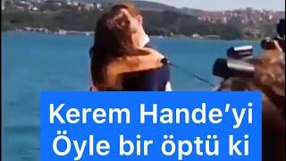 Kerem Bursin ile Hande Erçel'in ateşli öpüşme sahnesi