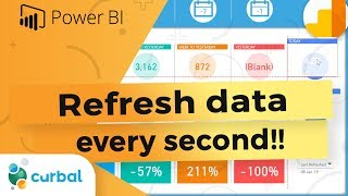 Refresh Power BI every second or minute