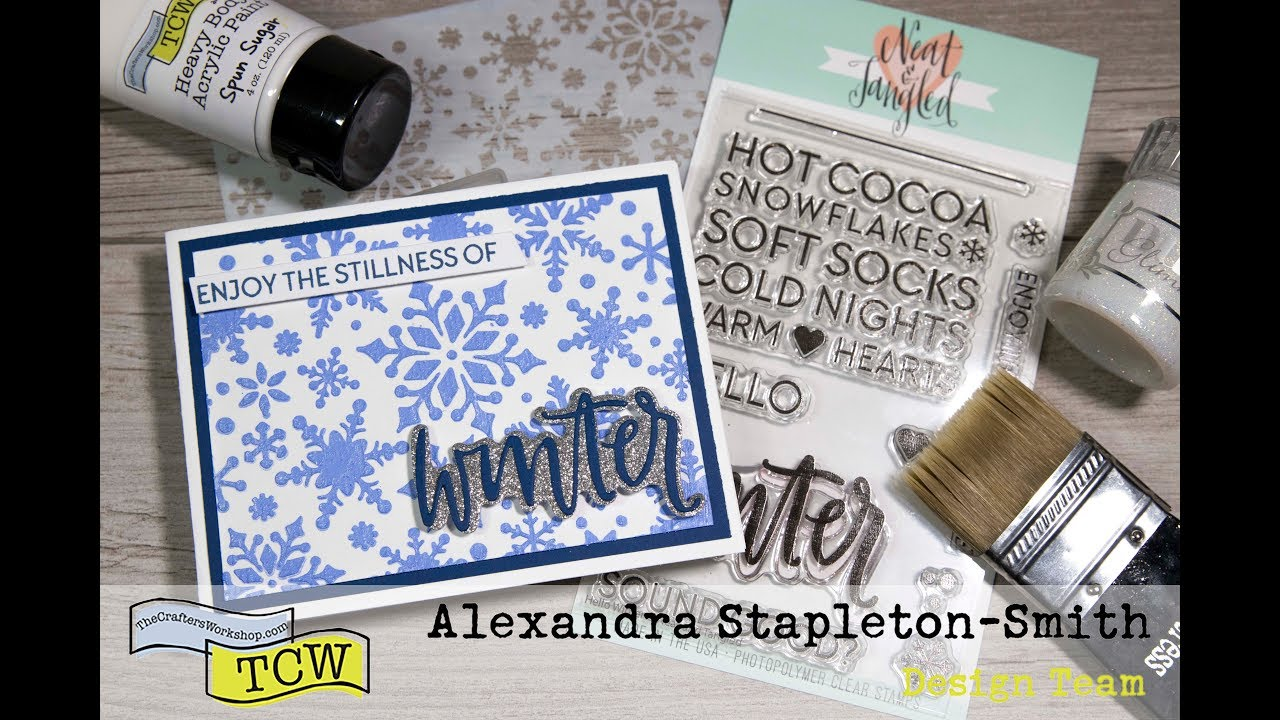Stretch your Stencils: Custom Paint Colors, Nuvo Shimmer Mousse Spray Card  Making Video Tutorial