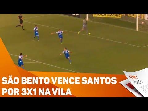 São Bento vence Santos por 3X1 na Vila - TV SOROCABA/SBT